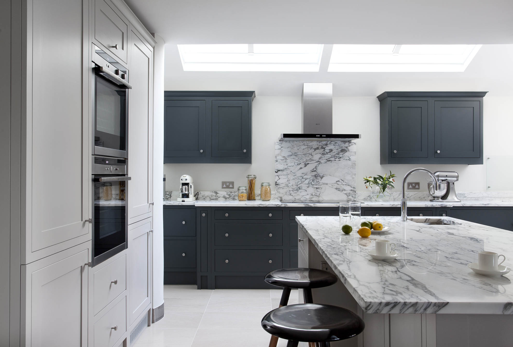 Grey Kitchen Farrow Amp Ball Downpipe And Purbeck Stone Kitchen Blackrock
